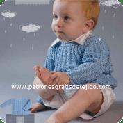 Chaleco de Bebé tejido a Dos Agujas