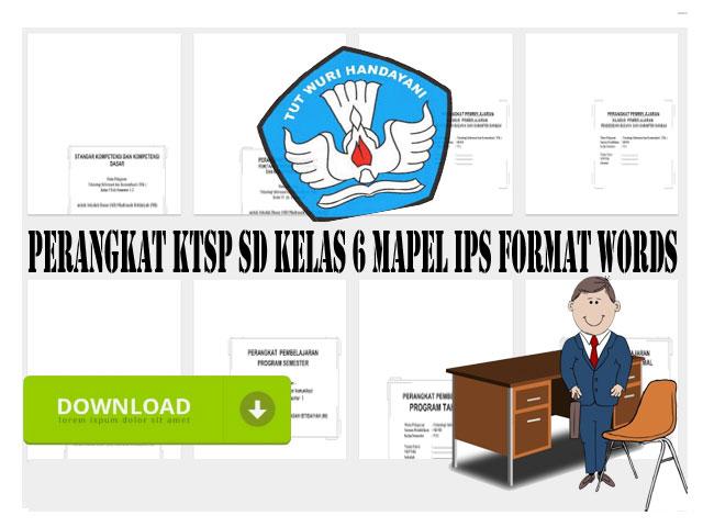 Perangkat KTSP SD Kelas 6 Mapel IPS Format Words