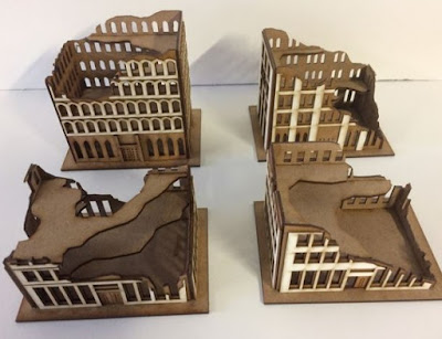 10mm City Block Ruins Kits Set of 4 A-E