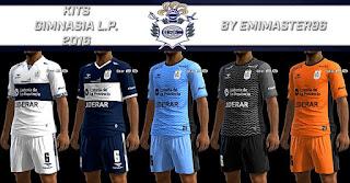 Kits Club de Gimnasia y Esgrima La Plata 2016-2017 Pes 2013