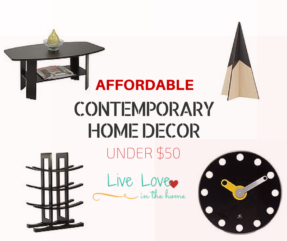 Affordable Contemporary Home Decor - Under $50