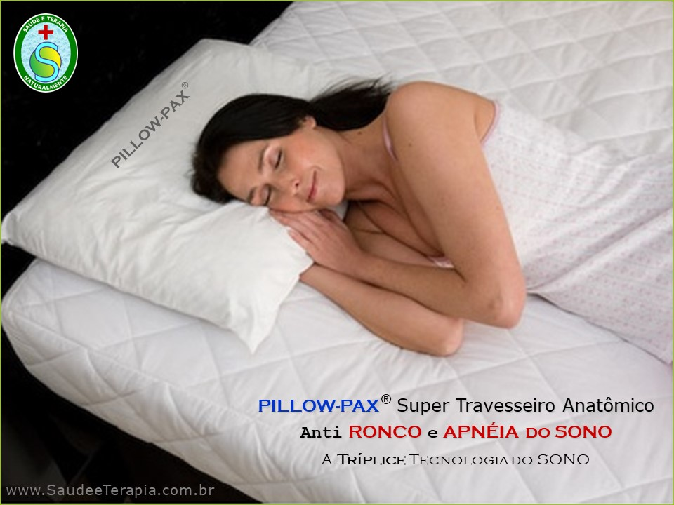 PILLOW-PAX – Super Travesseiro Anti RONCO e APNÉIA DO SONO