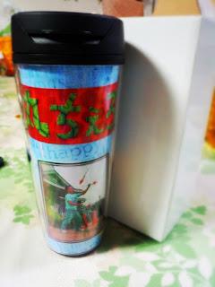 大道芸人丸ちぇろ 特製タンブラーをプレゼントしていただきました!