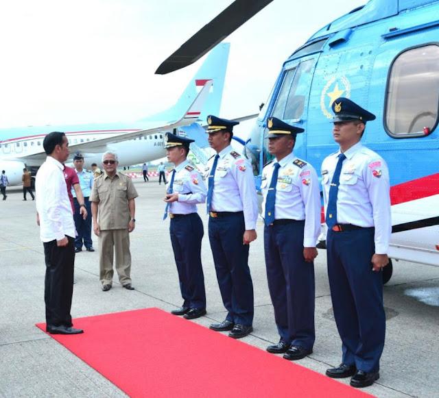 Tiba di Dharmasraya, Presiden Awali Kunjungan Kerja Ke Ranah Minang