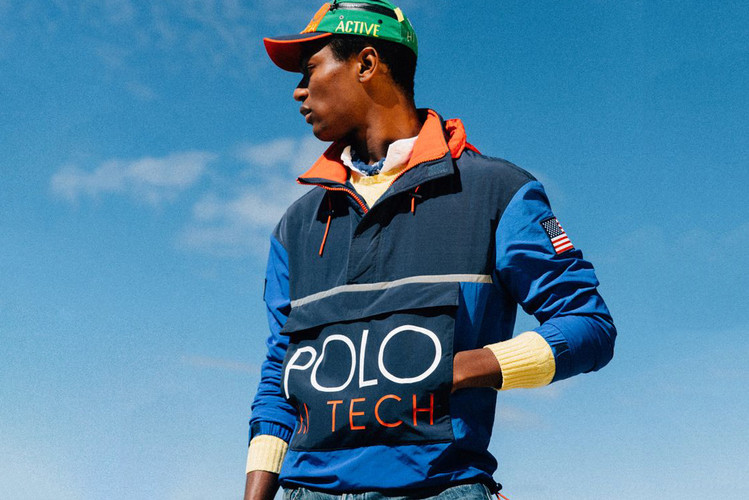 reputable site 92f8b f91a4 Ralph Lauren s iconic  90s collections were packed with bold colorblocking,  oversized logos and sportswear references. Though some of the design  influence ...