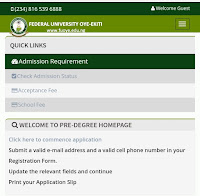 Fouye predegree admission form