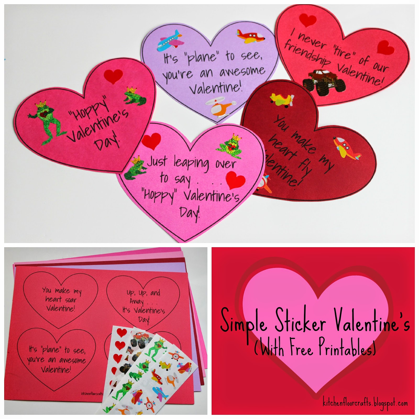 Kitchen Floor Crafts Simple Sticker Valentine S With Free Printables