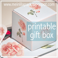 printable vintage rose favor box