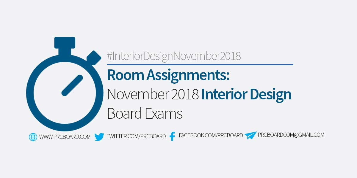 Room Assignment November 2018 Interior Design Board Exams Prcboard Com
