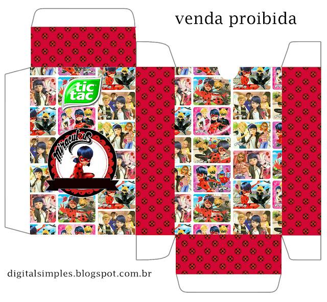 Miraculous Ladybug Free Printable Tic Tac Box,