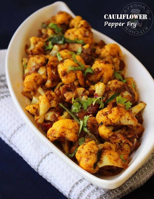 cauliflower fry recipe gobi fry recipes roasted cauliflower recipe side dish kerala food recipes pepper chicken