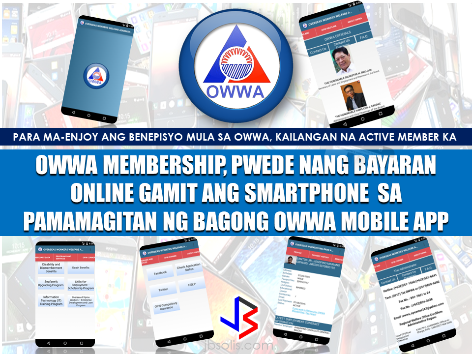"Overseas  Workers Welfare Administration (OWWA) is the branch of the government that handle OFW concerns safeguarding the welfare of their members here and abroad. To enjoy the benefits from OWWA, an OFW must be an active member, meaning, you need to renew your membership every two years. Payments are usually done at the POEA while securing an OEC  or can be also done abroad at the embassy offices of their host countries. Every OFW must be an OWWA member because it is impossible for every OFW to leave the country without the approval of the POEA and securing  OWWA membership is one of the pre-requisites in order for an OFW to be able to leave the country. An active member can enjoy OWWA benefits like availing loans, TESDA scholarship, livelihood and entrepreneurship seminars and other reintegration programs for returning OFWs.  See also: OWWA Benefits and How To Avail Them  OWWA membership is valid for two years, so every OFW has to renew their membership to continue enjoying the benefits. OWWA has made their services accessible to every OFW members by launching the new OWWA mobile app which can be readily downloaded at the Google Playstore for android users.  OWWA Administrator Hans Leo Cacdac has mentioned the launch of the new OWWA mobile app to be done by DOLE Secretary Silvestre Bello III in time for the commemoration of OWWA's 35th Anniversary on may 2, 2017. The application simply named OWWA App is a useful tool to reach the OFWs who want to update their membership even in the absence of an OWWA office in their host countries. You just need a smartphone with internet access and you can be in touch with OWWA. RECOMMENDED: 105 OFWs Who Availed The Amnesty Program in Saudi Arabia Arrived Home Safely 105 undocumented OFWs mula sa Saudi Arabia, nakauwi na. One hundred and five undocumented OFWs who availed the amnesty program of the Saudi Crown Prince from Saudi Arabia has arrived home safely on April 13. The 90-day amnesty allows those who has problems with labor or residency to correct their status or go home if they wish to without the risk of  detention or paying fines.  Atty. Cesar Chavez, officer-in-charge Overseas Workers Welfare Administration's Repatriation and Assistance Division, said the government shouldered their airfare from Saudi Arabia and they will also take care of their transportation if they need to travel from Manila to their provinces. The government will also provide reintegration services or livelihood programs for them to start a new life in the country. Because of the amnesty program, they no longer need to pay fines or face any charges regarding their residency or labor violations. Ofws who returned home under the amnesty program can also go back to saudi to work  anytime if they wish to. In the usual practice, any expat who had been deported for violation in the kingdom will be blacklisted and will not be allowed to come back or work in their country. Such punishment has been waived under the existing amnesty program. During President rodrigo Duterte's visit in Saudi Arabia, he said that he will bring 250 undocumented OFWs with him when he return to the Philippines.  DOLE Secretary Silvestre Bello III also said that since the announcement of the 90-day amnesty, they already sent an augmentation team to assist the undocumented OFWs who want to avail the program by helping them in complying with the documents they need. Secretary Bello also said that unpaid claims of the OFWs are under process and the augmentation team also help in determining the validity of the claims. When the claims are already verified, the Philippine government through OWWA is willing to give the money claims in advance to the claimants. Recent retrenchment in Saudi Arabia due to oil price crisis had affected more than 11,000 OFWs left stranded without getting their salary for months as well as their indemnities, five thousand of them had already gone home without receiving a single halala. Saudi government has acted regarding the issue assuring that the OFWs will receive the money due to them even if they are already been repatriated. President Rodrigo Duterte also promised that his government will continue to repatriate the stranded OFWs and that some 250 OFWs who will be going home with him will only be the first batch. The Filipino community in Saudi Arabia was so grateful of the president. During the question and answer provided after his speech, some OFWs did not even asked questions but only expressed their deep gratitude to President Duterte for the help and compassion he is giving to the OFWs around the world.  Source: CNN Phils, GMA Recommended: The President assures that he will bring 250 stranded OFWs from Saudi Arabia with him when he returned to the Philippines after a series of visit in the Middle East.  During his speech in Davao before his departure, he said that God-willing, he will bring some OFWs in death row with him when he return to the country. During his speech in front of the Filipino Community in Riyadh , Saudi Arabia, President Duterte said that he will be bringing home the first batch of 250 OFWs who had been stranded in Saudi Arabia for a very long time, and they will continue to do it.  ""We are arranging for the transportation of 250 OFWs who hopefully be back to the Philippines in time for the return of President Rodrigo Duterte.., "" DOLE Secretary Silvestre Bello III said.  Secretary Bello also added that since the announcement of the Saudi Crown Prince Deputy Prime Minister and the Minister of Interior Prince Mohammed bin Naif Al Saud about the amnesty program for expats, DOLE has already sent an augmentation team to assist the OFWs  to comply with the requirements for the amnesty and a lot of them have already availed it.  According to Secretary Bello, they are also working on the unpaid claims of the OFWs and they are only validating it in order to establish their claims. If they are all been verified, OWWA will be paying their money claims in advance. President Duterte will also be visiting Bahrain and Qatar after his visit to Saudi Arabia and is expected to be back in the Philippines on April 17. Recommended:  ""They've been given the clearance. I will fly them home. When I return, I'll be bringing some of them home, "" he said during a pre-departure press briefing in Davao City.  Reports saying that the Embassy officials in Saudi Arabia have been acting slow with regards to helping stranded and runaway OFWs are not entirely correct according to Philippine Consul General Iric Arribas. He also said that the Philippine Embassy in Riyadh and  the philippine Consulate in Jeddah are both providing the OFWs all the help they need which includes repatriation as well.  700 OFWs have been in jails in Saudi Arabia for various charges because there are no assistance coming from the Embassy officials, according to the reports from various OFW advocates.    The OFWs are the reason why President Rodrigo Duterte is pushing through with the campaign on illegal drugs, acknowledging their hardships and sacrifices. He said that as he visit the countries where there are OFWs, he has heard sad stories about them: sexually abused Filipinas,domestic helpers being forced to work on a number of employers. ""I have been to many places. I have been to the Middle East. You know, the husband is working in one place, the wife in another country. The so many sad stories I hear about our women being raped, abused sexually,"" The President said. About Filipino domestic helpers, he said:  ""If you are working on a family and the employer's sibling doesn't have a helper, you will also work for them. And if in a compound,the son-in-law of the employer is also living in there, you will also work for him.So, they would finish their work on sunrise."" He even refer to the OFWs being similar to the African slaves because of the situation that they have been into for the sake of their families back home. Citing instances that some of them, out of deep despair, resorted to ending their own lives.  The President also said that he finds it heartbreaking to know that after all the sacrifices of the OFWs working abroad for the future of their families they would come home just to learn that their children has been into illegal drugs. ""I made no bones about my hatred. I said, 'If you do drugs in my city, if you destroy our daughters and sons, I'll just have to kill you.' I repeated the same warning when i became president,"" he said.   Critics of the so-called violent war on drugs under President Duterte's administration includes local and international human rights groups, linking the campaign on thousands of drug-related killings.  Police figures show that legitimate police operations have led to over 2,600 deaths of individuals involved in drugs since the war on drugs began. However, the war on drugs has been evident that the extent of drug menace should be taken seriously. The drug personalities includes high ranking officials and they thrive in the expense of our own children,if not being into drugs, being victimized by drug related crimes. The campaign on illegal drugs has somehow made a statement among the drug pushers and addicts. If the common citizen fear walking on the streets at night worrying about the drug addicts lurking in the dark, now they can walk peacefully while the drug addicts hide in fear that the police authorities might get them. Source:GMA {INSERT ALL PARAGRAPHS HERE {EMBED 3 FB PAGES POST FROM JBSOLIS/THOUGHTSKOTO/PEBA HERE OR INSERT 3 LINKS}   ©2017 THOUGHTSKOTO www.jbsolis.com SEARCH JBSOLIS The OFWs are the reason why President Rodrigo Duterte is pushing through with the campaign on illegal drugs, acknowledging their hardships and sacrifices. He said that as he visit the countries where there are OFWs, he has heard sad stories about them: sexually abused Filipinas,domestic helpers being forced to work on a number of employers. ©2017 THOUGHTSKOTO www.jbsolis.com SEARCH JBSOLIS ""They've been given the clearance. I will fly them home. When I return, I'll be bringing some of them home, "" he said during a pre-departure press briefing in Davao City. The President assures that he will bring 250 stranded OFWs from Saudi Arabia with him when he returned to the Philippines after a series of visit in the Middle East.  During his speech in Davao before his departure, he said that God-willing, he will bring some OFWs in death row with him when he return to the country. During his speech in front of the Filipino Community in Riyadh , Saudi Arabia, President Duterte said that he will be bringing home the first batch of 250 OFWs who had been stranded in Saudi Arabia for a very long time, and they will continue to do it.  ""We are arranging for the transportation of 250 OFWs who hopefully be back to the Philippines in time for the return of President Rodrigo Duterte.., "" DOLE Secretary Silvestre Bello III said.  Secretary Bello also added that since the announcement of the Saudi Crown Prince Deputy Prime Minister and the Minister of Interior Prince Mohammed bin Naif Al Saud about the amnesty program for expats, DOLE has already sent an augmentation team to assist the OFWs  to comply with the requirements for the amnesty and a lot of them have already availed it.  According to Secretary Bello, they are also working on the unpaid claims of the OFWs and they are only validating it in order to establish their claims. If they are all been verified, OWWA will be paying their money claims in advance. President Duterte will also be visiting Bahrain and Qatar after his visit to Saudi Arabia and is expected to be back in the Philippines on April 17. Recommended:  ""They've been given the clearance. I will fly them home. When I return, I'll be bringing some of them home, "" he said during a pre-departure press briefing in Davao City.  Reports saying that the Embassy officials in Saudi Arabia have been acting slow with regards to helping stranded and runaway OFWs are not entirely correct according to Philippine Consul General Iric Arribas. He also said that the Philippine Embassy in Riyadh and  the philippine Consulate in Jeddah are both providing the OFWs all the help they need which includes repatriation as well.  700 OFWs have been in jails in Saudi Arabia for various charges because there are no assistance coming from the Embassy officials, according to the reports from various OFW advocates.    The OFWs are the reason why President Rodrigo Duterte is pushing through with the campaign on illegal drugs, acknowledging their hardships and sacrifices. He said that as he visit the countries where there are OFWs, he has heard sad stories about them: sexually abused Filipinas,domestic helpers being forced to work on a number of employers. ""I have been to many places. I have been to the Middle East. You know, the husband is working in one place, the wife in another country. The so many sad stories I hear about our women being raped, abused sexually,"" The President said. About Filipino domestic helpers, he said:  ""If you are working on a family and the employer's sibling doesn't have a helper, you will also work for them. And if in a compound,the son-in-law of the employer is also living in there, you will also work for him.So, they would finish their work on sunrise."" He even refer to the OFWs being similar to the African slaves because of the situation that they have been into for the sake of their families back home. Citing instances that some of them, out of deep despair, resorted to ending their own lives.  The President also said that he finds it heartbreaking to know that after all the sacrifices of the OFWs working abroad for the future of their families they would come home just to learn that their children has been into illegal drugs. ""I made no bones about my hatred. I said, 'If you do drugs in my city, if you destroy our daughters and sons, I'll just have to kill you.' I repeated the same warning when i became president,"" he said.   Critics of the so-called violent war on drugs under President Duterte's administration includes local and international human rights groups, linking the campaign on thousands of drug-related killings.  Police figures show that legitimate police operations have led to over 2,600 deaths of individuals involved in drugs since the war on drugs began. However, the war on drugs has been evident that the extent of drug menace should be taken seriously. The drug personalities includes high ranking officials and they thrive in the expense of our own children,if not being into drugs, being victimized by drug related crimes. The campaign on illegal drugs has somehow made a statement among the drug pushers and addicts. If the common citizen fear walking on the streets at night worrying about the drug addicts lurking in the dark, now they can walk peacefully while the drug addicts hide in fear that the police authorities might get them. Source:GMA {INSERT ALL PARAGRAPHS HERE {EMBED 3 FB PAGES POST FROM JBSOLIS/THOUGHTSKOTO/PEBA HERE OR INSERT 3 LINKS}   ©2017 THOUGHTSKOTO www.jbsolis.com SEARCH JBSOLIS The OFWs are the reason why President Rodrigo Duterte is pushing through with the campaign on illegal drugs, acknowledging their hardships and sacrifices. He said that as he visit the countries where there are OFWs, he has heard sad stories about them: sexually abused Filipinas,domestic helpers being forced to work on a number of employers. ©2017 THOUGHTSKOTO www.jbsolis.com SEARCH JBSOLIS Reports saying that the Embassy officials in Saudi Arabia have been acting slow with regards to helping stranded and runaway OFWs are not entirely correct according to Philippine Consul General Iric Arribas. He also said that the Philippine Embassy in Riyadh and  the philippine Consulate in Jeddah are both providing the OFWs all the help they need which includes repatriation as well.  700 OFWs have been in jails in Saudi Arabia for various charges because there are no assistance coming from the Embassy officials, according to the reports from various OFW advocates.    The OFWs are the reason why President Rodrigo Duterte is pushing through with the campaign on illegal drugs, acknowledging their hardships and sacrifices. He said that as he visit the countries where there are OFWs, he has heard sad stories about them: sexually abused Filipinas,domestic helpers being forced to work on a number of employers. ""I have been to many places. I have been to the Middle East. You know, the husband is working in one place, the wife in another country. The so many sad stories I hear about our women being raped, abused sexually,"" The President said. About Filipino domestic helpers, he said:  ""If you are working on a family and the employer's sibling doesn't have a helper, you will also work for them. And if in a compound,the son-in-law of the employer is also living in there, you will also work for him.So, they would finish their work on sunrise."" He even refer to the OFWs being similar to the African slaves because of the situation that they have been into for the sake of their families back home. Citing instances that some of them, out of deep despair, resorted to ending their own lives.  The President also said that he finds it heartbreaking to know that after all the sacrifices of the OFWs working abroad for the future of their families they would come home just to learn that their children has been into illegal drugs. ""I made no bones about my hatred. I said, 'If you do drugs in my city, if you destroy our daughters and sons, I'll just have to kill you.' I repeated the same warning when i became president,"" he said.   Critics of the so-called violent war on drugs under President Duterte's administration includes local and international human rights groups, linking the campaign on thousands of drug-related killings.  Police figures show that legitimate police operations have led to over 2,600 deaths of individuals involved in drugs since the war on drugs began. However, the war on drugs has been evident that the extent of drug menace should be taken seriously. The drug personalities includes high ranking officials and they thrive in the expense of our own children,if not being into drugs, being victimized by drug related crimes. The campaign on illegal drugs has somehow made a statement among the drug pushers and addicts. If the common citizen fear walking on the streets at night worrying about the drug addicts lurking in the dark, now they can walk peacefully while the drug addicts hide in fear that the police authorities might get them. Source:GMA {INSERT ALL PARAGRAPHS HERE {EMBED 3 FB PAGES POST FROM JBSOLIS/THOUGHTSKOTO/PEBA HERE OR INSERT 3 LINKS}   ©2017 THOUGHTSKOTO www.jbsolis.com SEARCH JBSOLIS The OFWs are the reason why President Rodrigo Duterte is pushing through with the campaign on illegal drugs, acknowledging their hardships and sacrifices. He said that as he visit the countries where there are OFWs, he has heard sad stories about them: sexually abused Filipinas,domestic helpers being forced to work on a number of employers. ©2017 THOUGHTSKOTO www.jbsolis.com SEARCH JBSOLIS   ©2017 THOUGHTSKOTO www.jbsolis.com SEARCH JBSOLIS"