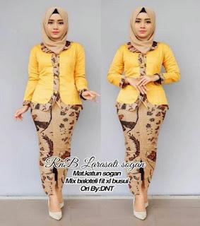 model baju batik terbaru setelan rok panjang