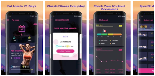 Fat Loss in 21 Days for women mobile app - YouthApps