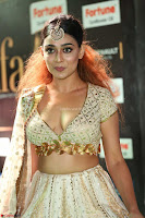 Apoorva Spicy Pics in Cream Deep Neck Choli Ghagra WOW at IIFA Utsavam Awards 2017 27.JPG