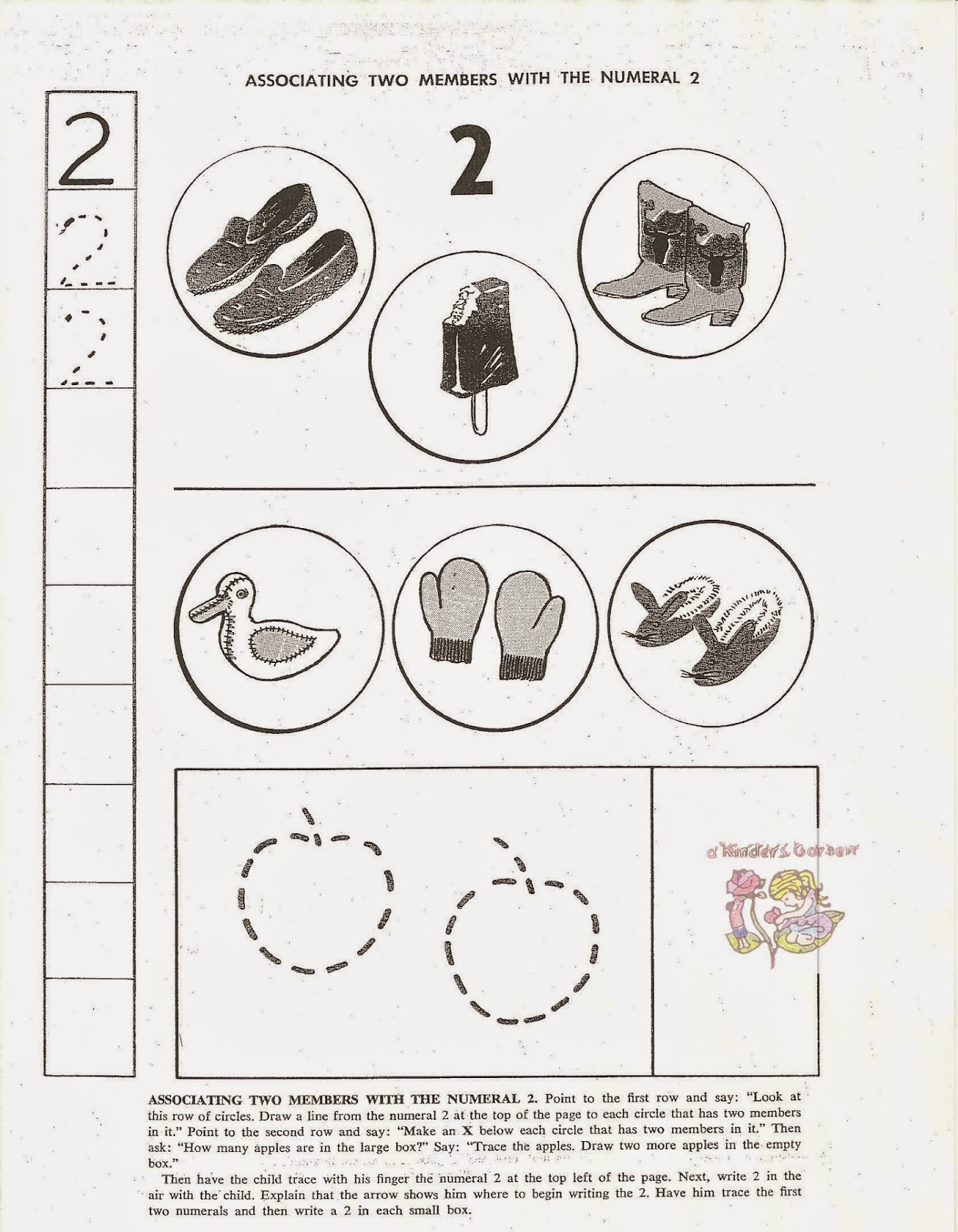 A Kinders Garten Vintage Homeschool Mittens For Three