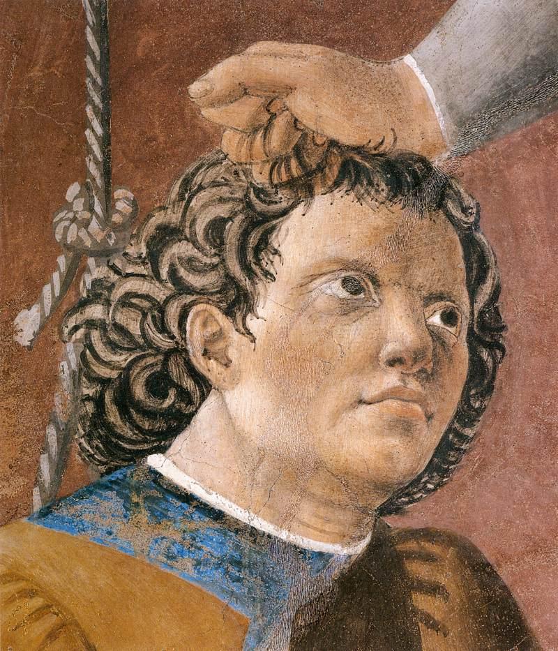 Piero  della  Francesca  The  History  of  the  True  Cross        Torture  of  the  Jew   detail