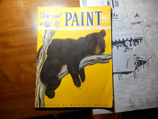 "Vintage Walter T. Foster Publication Celebrating The ""New"" Acrylics"