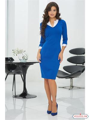 Como combinar un vestido color azul rey
