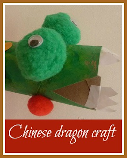 Chinese New Year simple dragon craft from toilet roll tube