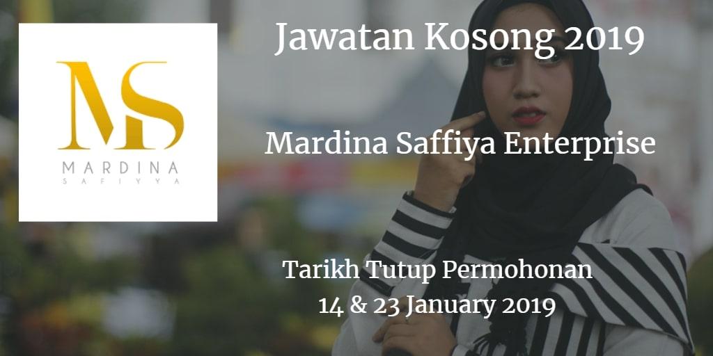 Jawatan Kosong Mardina Saffiya Enterprise 14 & 23 January 2019