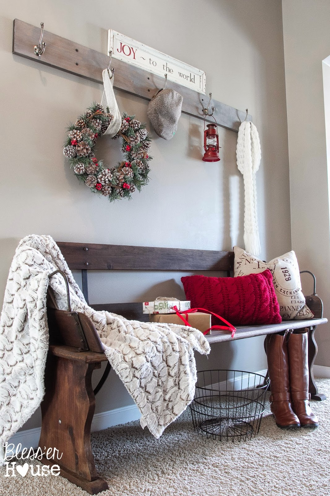 Holiday Home Tour 2014 A Cozy Eclectic Christmas Bless