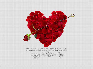 valentine day wishes image with romantic love message