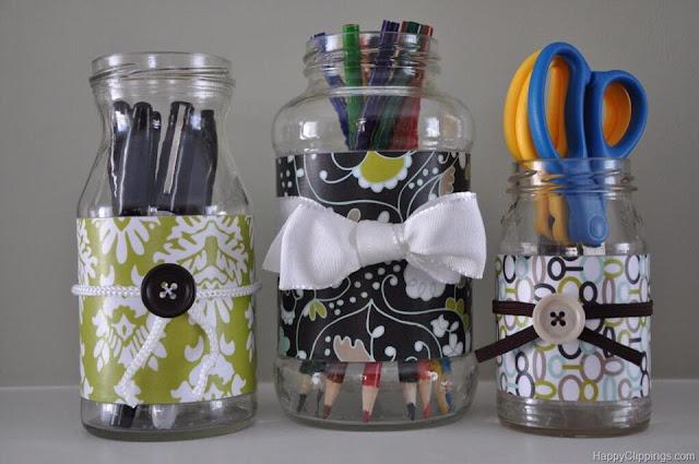 reutilizar  potes de vidros