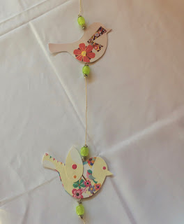 paper birds for the baby mobile