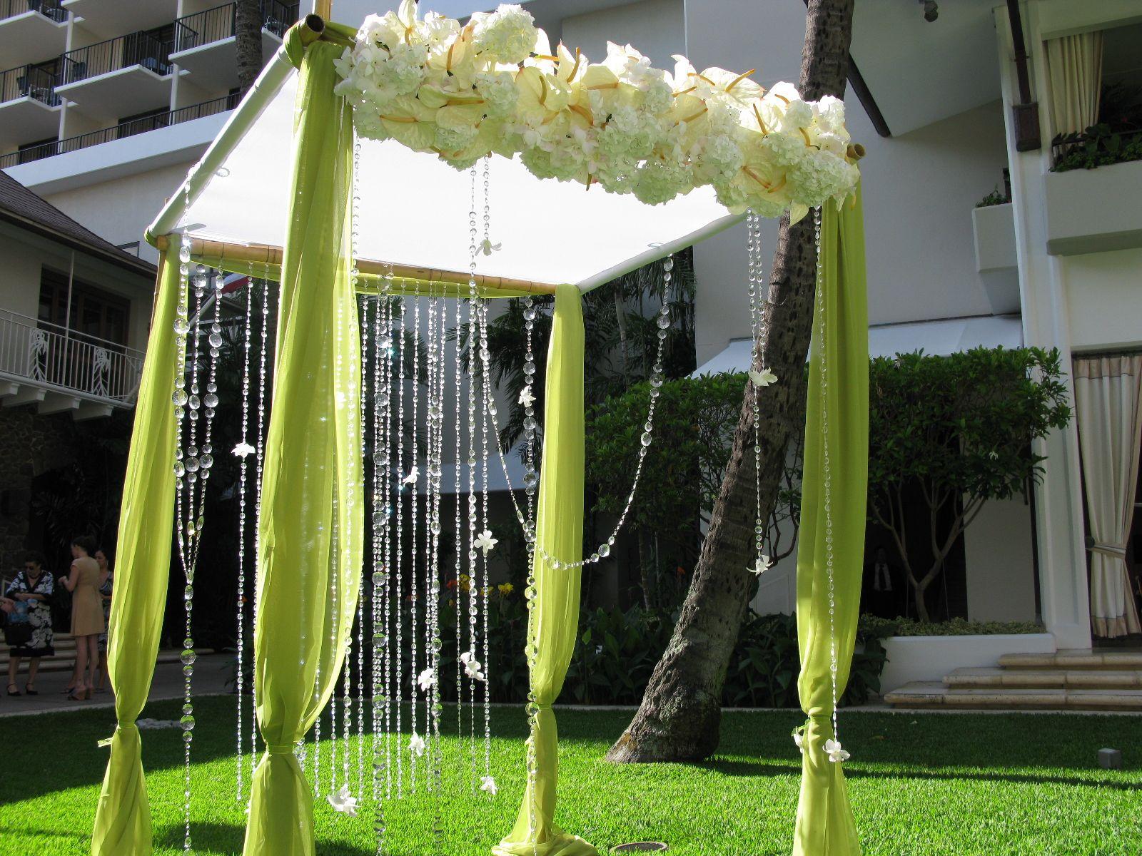 Trellis Outdoor Wedding Ceremonies: Bamboo Worktops Photos: Bamboo Wedding Arbor