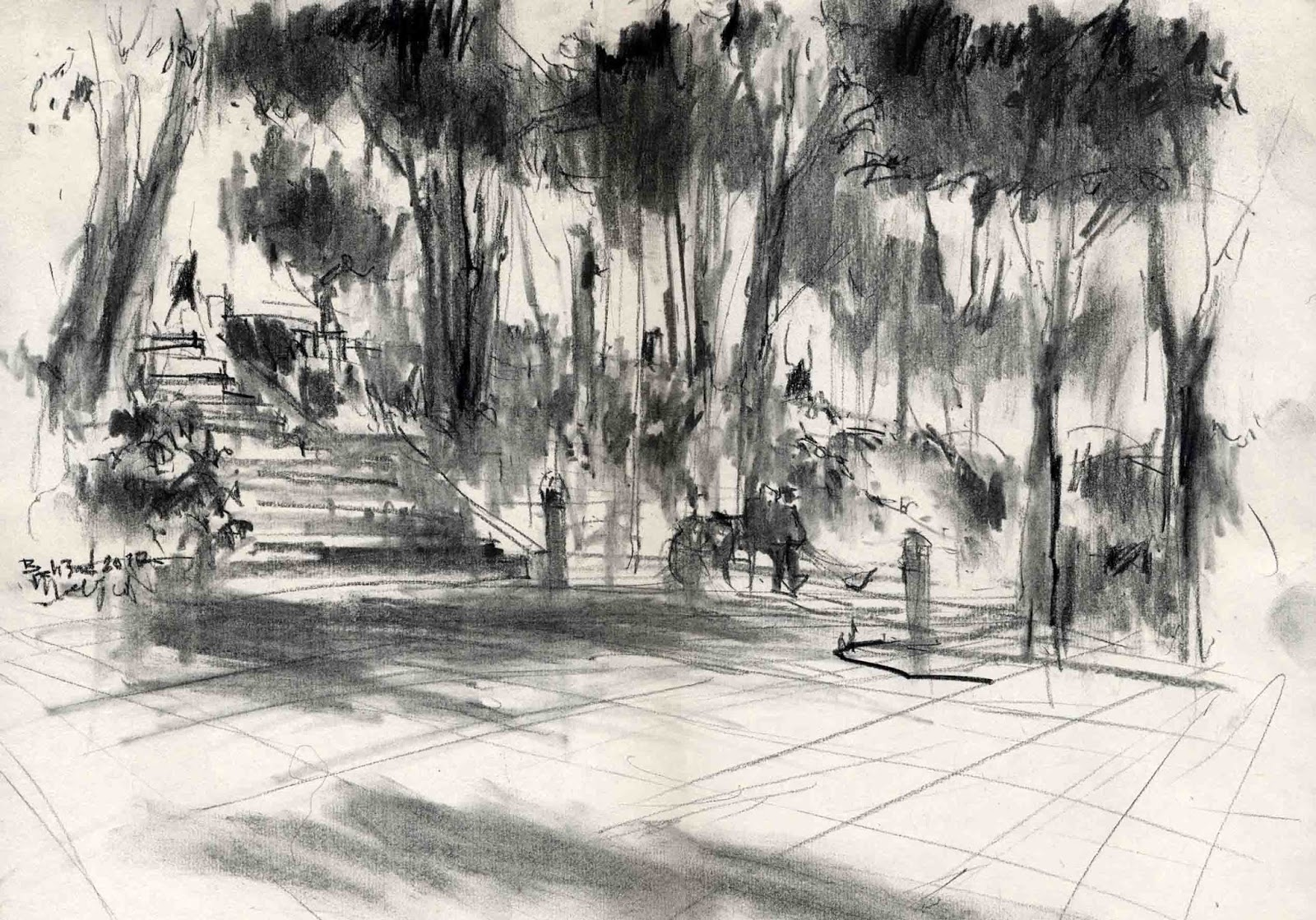 Near The River Urban Sketchers Pulpen Safari 1706