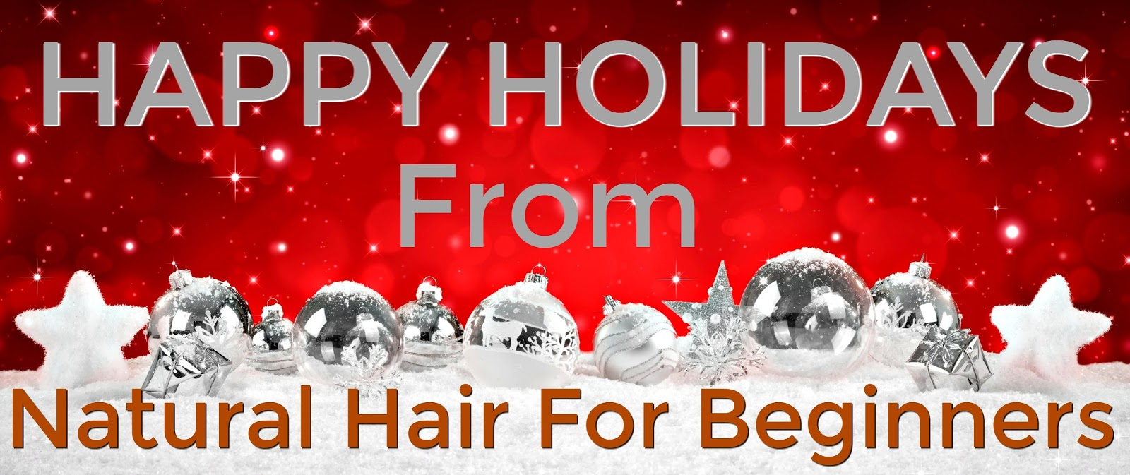 Happy Holidays From Natural Hair For Beginners