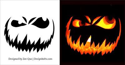 Scary Halloween Pumpkin Designs Faces