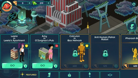 Screenshot Futurama Worlds of Tomorrow