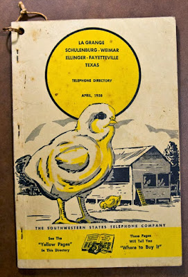 La Grange Yellow Pages phone book, 1958