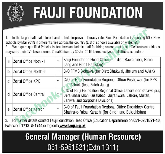 ➨ #Jobs - #Career_Opportunities - Jobs at Fauji Foundation – Read this ad for details