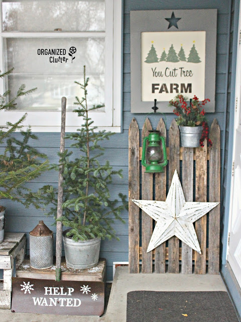 You Cut Tree Farm Themed Outdoor Decor #oldsignstencils #rusticChristmas #outdoordecor