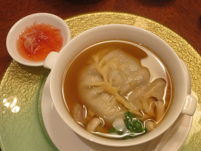 Double-boiled Dumpling Soup with Crab Meat and Dried Scallop
