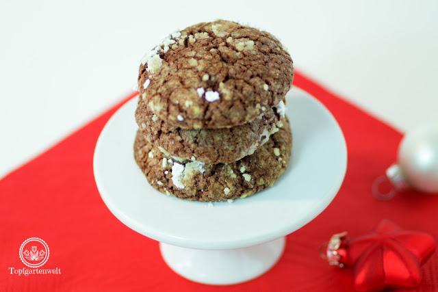 Backen für Weihnachten mit einem Rezept für Snowcaps - Foodblog Topfgartenwelt