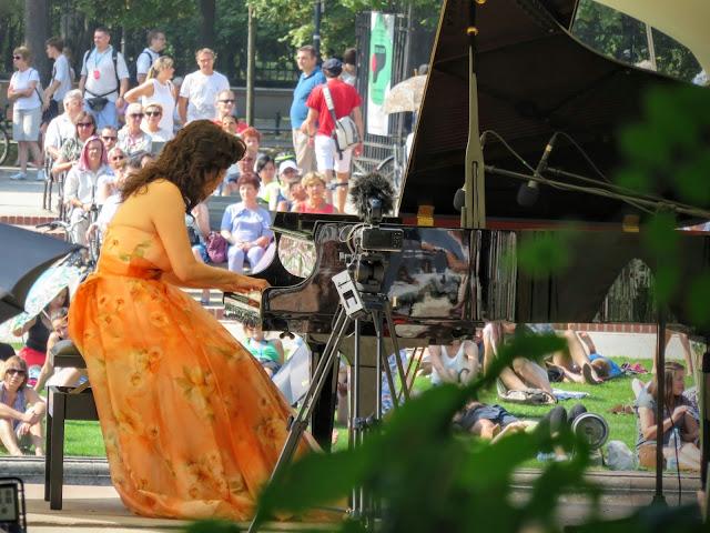 Mika Okumura Chopin recital in Łazienki Park in Warsaw, Poland