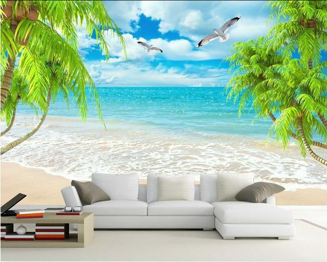 Fondtapet vardagsrum tropisk tapet hav strand fondtapet