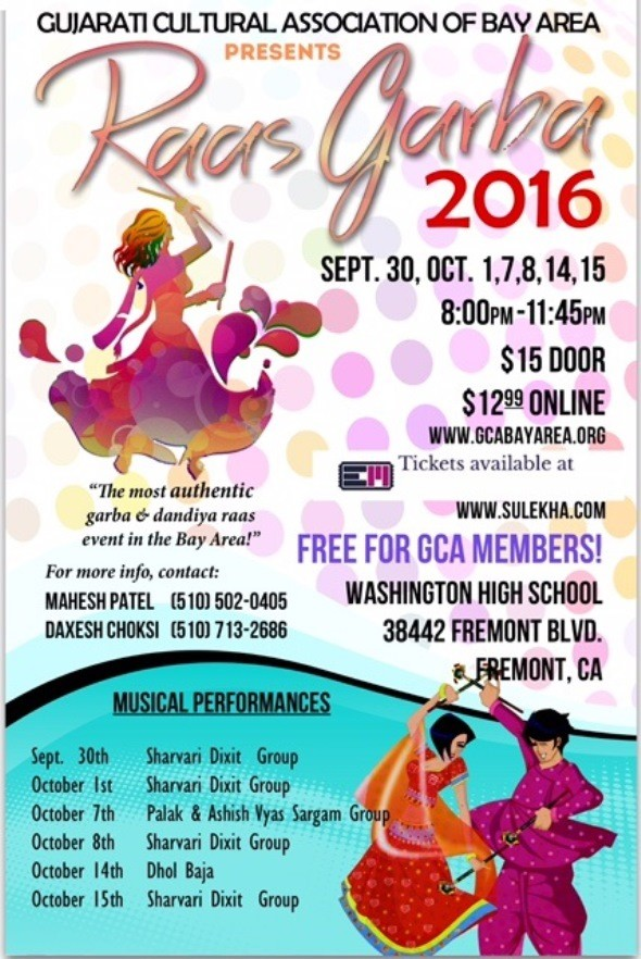 Raas Garba 2016 in Bay Area