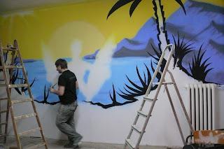 Artystyczne malowanie ścian w Warszawie, murale 3D