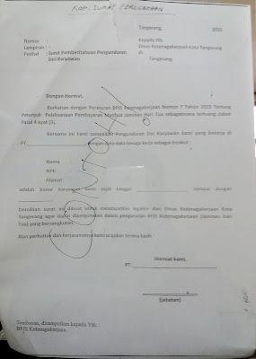 Ini Dia Contoh Surat Paklaring Yang Di Legalisir Departemen Tenaga Kerja Untuk Pencairan BPJS/JAMSOSTEK
