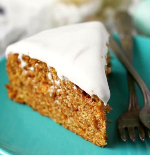 Gluten Free Vegan Carrot Cake with Cream Cheese Frosting #dessert #vegan