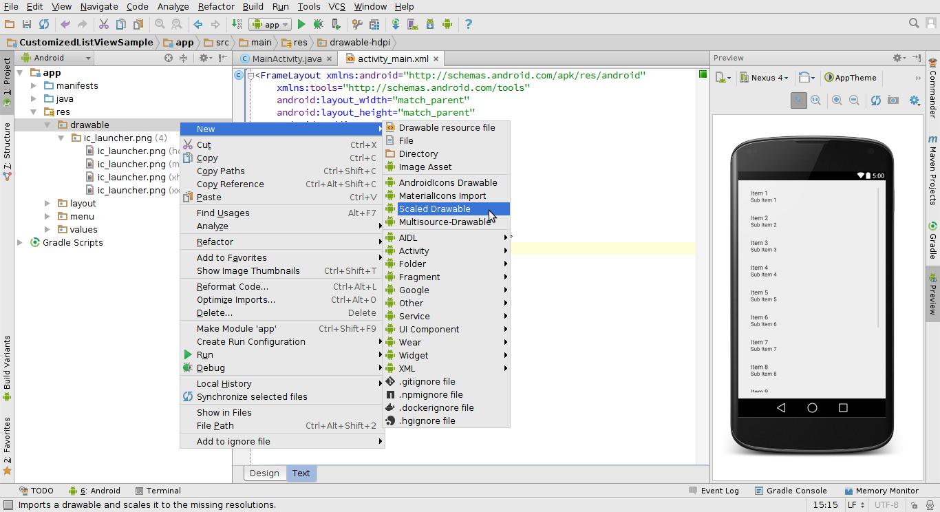 listview in android studio