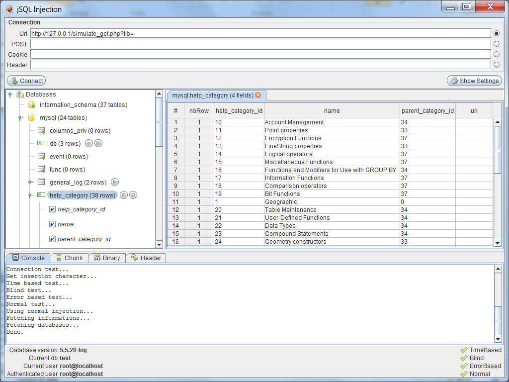 jSQL] SQLi automática con Java - KitPloit - PenTest Tools for your ...