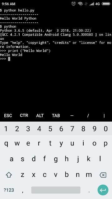 Python on termux