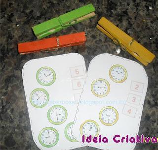 Jogo Pedagógico Matemática com Cartas e Prendedores