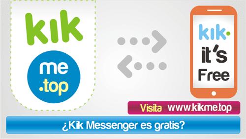 Kik Messenger es gratis